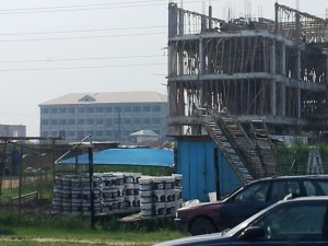 Construction work in Lagos: A sign of economic growth