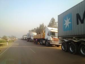 Tracks crossing the Uganda-Kenya Malaba border