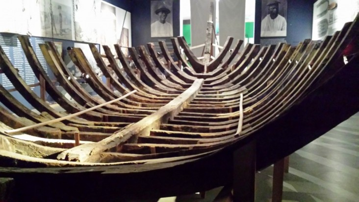 Structure of a boat used for the slave trade (Afro-Brazilian Museum, Sao Paulo)