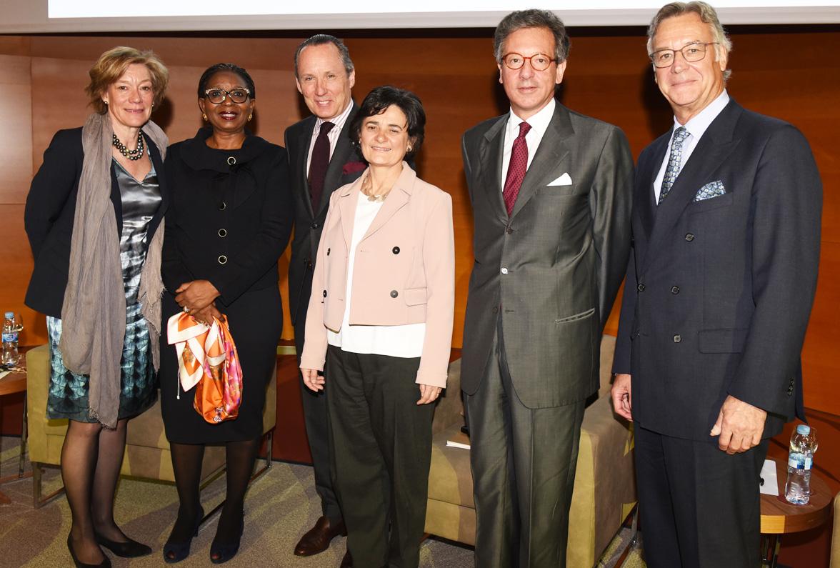 IESE IAB members session: Andrea Crhistenson, Ibukun Awosika, Ermenegildo Zegna, África Ariño, Francesco Vanni and Hans Ulricht Maerki