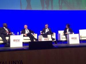 Panel session on Internationalization: Okomo-Okello, Barclays Africa Group; Antonio Basolas, Gas Natural Fenosa; Marc Puig, Puig; myself, IESE Business School