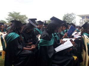 During graduation ceremony at Strathmore University, Nairobi, Kenya