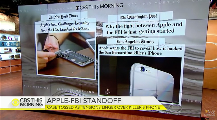Apple versus FBI user security data