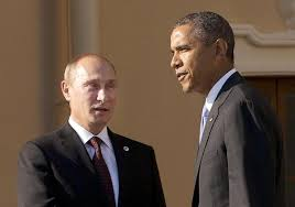 Barack Obama and Vladimir Putin, Normandy