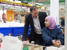 Birnbaum with Palestinian Worker