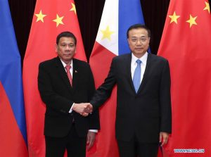 President Rodrigo Duterte and Li Keqiang