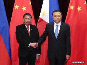 President Rodrigo Duterte and Li Keqiang