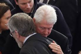 Gerry Adams abd Bill Clinton - Niall Carson