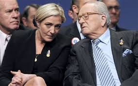 Marine Le pen and Jean-Marie