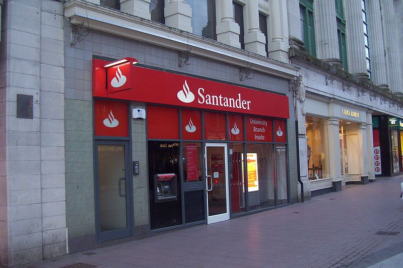 A branch of Santander in Cardiff, United Kingdom, by Peter Clayton