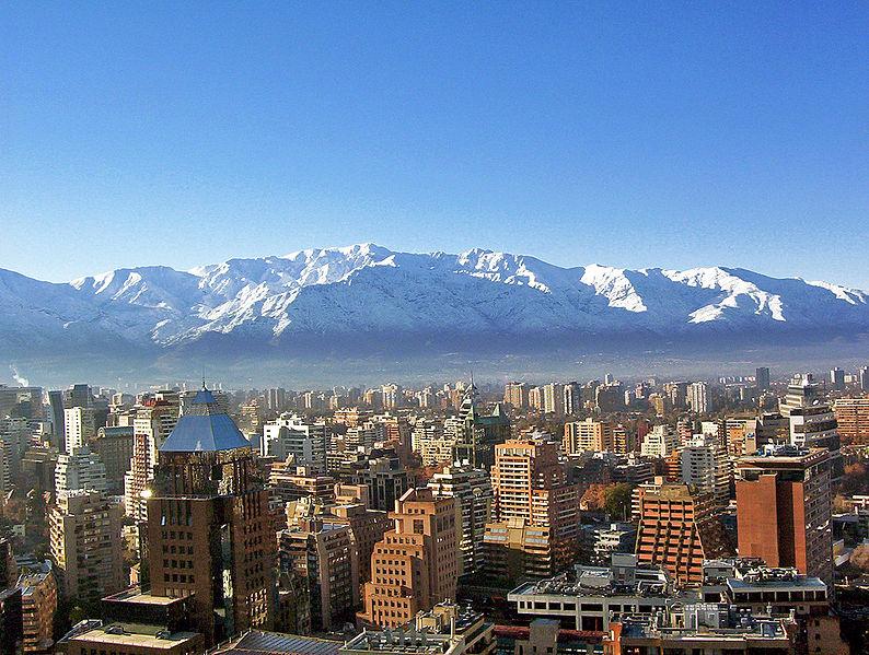Santigo de Chile, por Víctor San Martín