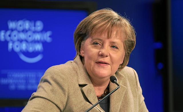 Angela Merkel. Source:  World Economic Forum. Photo by Sebastian Derungs