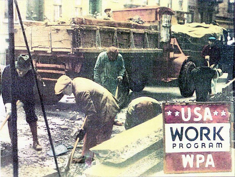 WPA poster 1935 USA, color photo