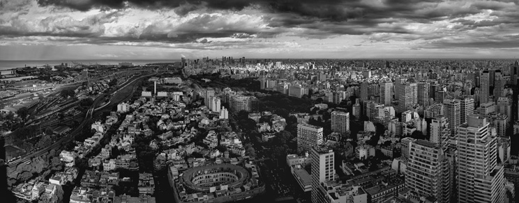 Buenos Aires Skyline in Black and White. Source: Flickr/Jimmy Baikovicius