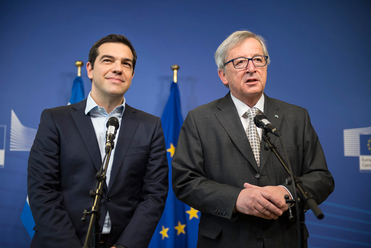 Tsipras and Juncker. Source: Flickr