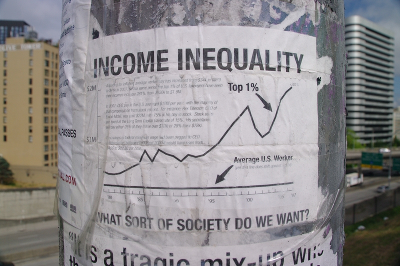 US income inequality. Source: Flickr/mSeattle