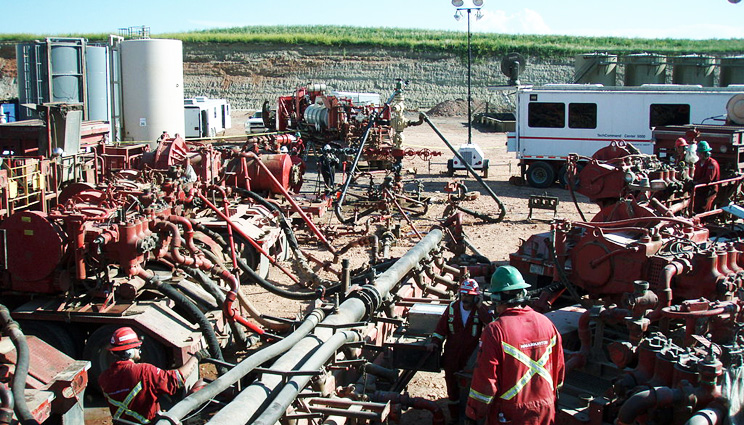 Fracking the Bakken Formation in North Dakota. Picture: Joshua Doubek