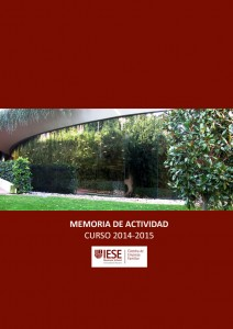 Memoria de actividad curso 2014-2015