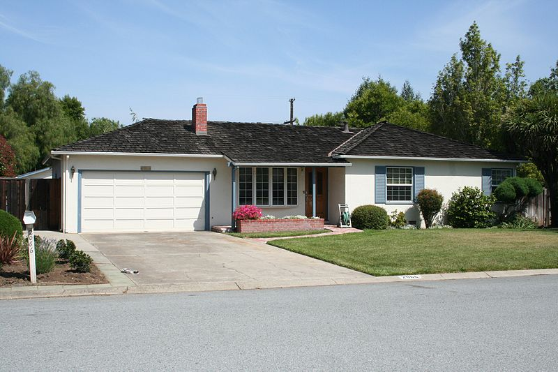 Garage of Steve Jobs' parents on Crist Drive in Los Altos, California, by Mathieu Thouvenin
