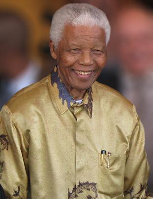 Nelson Mandela in Johannesburg, Gauteng, on 13 May 2008. Source:  South Africa The Good News www.sagoodnews.co.za