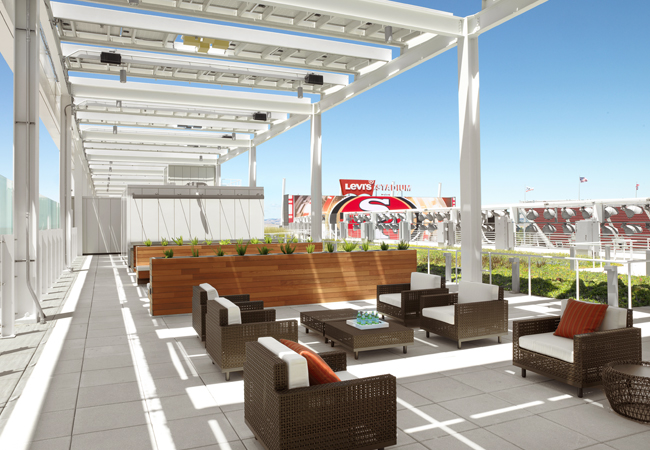 NRG Sky Suite sits atop Levi's® Stadium. Source: Levi's Stadium