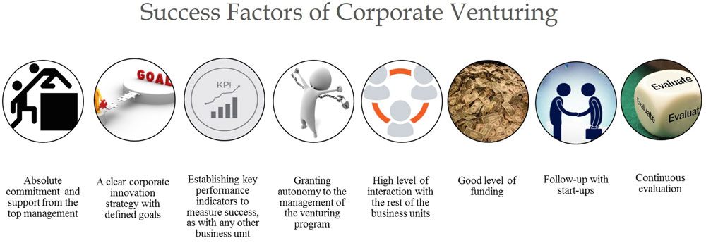 Success factors of corporate venturing