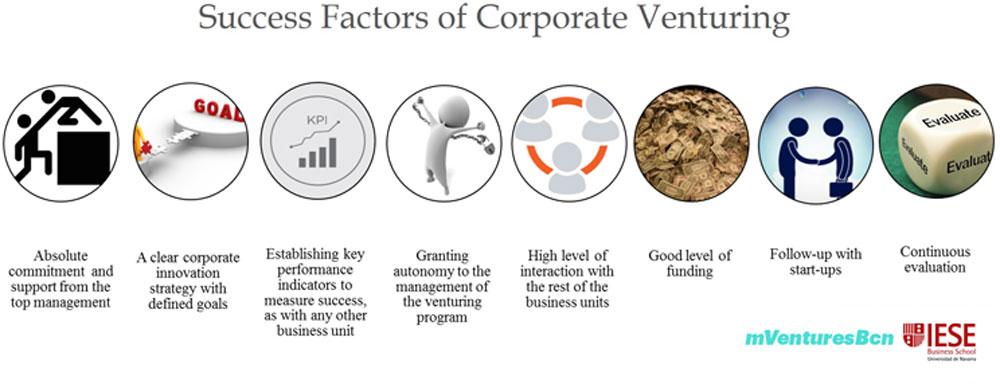 Corporate Venturing Success factors