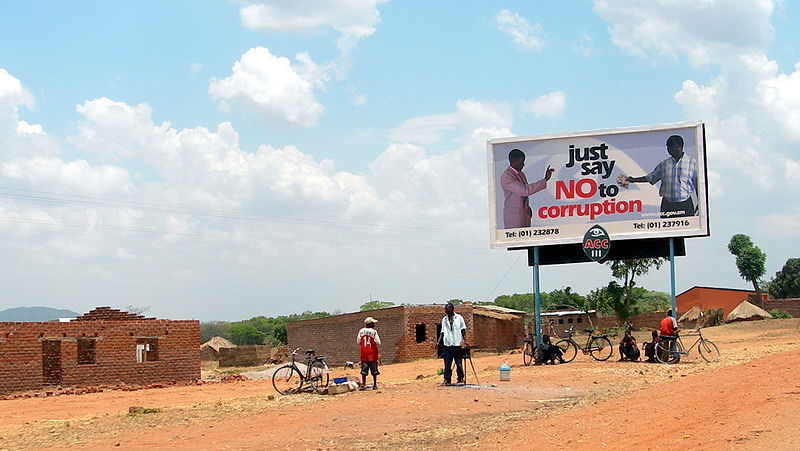 Say no to bribes (probably in Chipata), Zambia, by Lars Plougmann