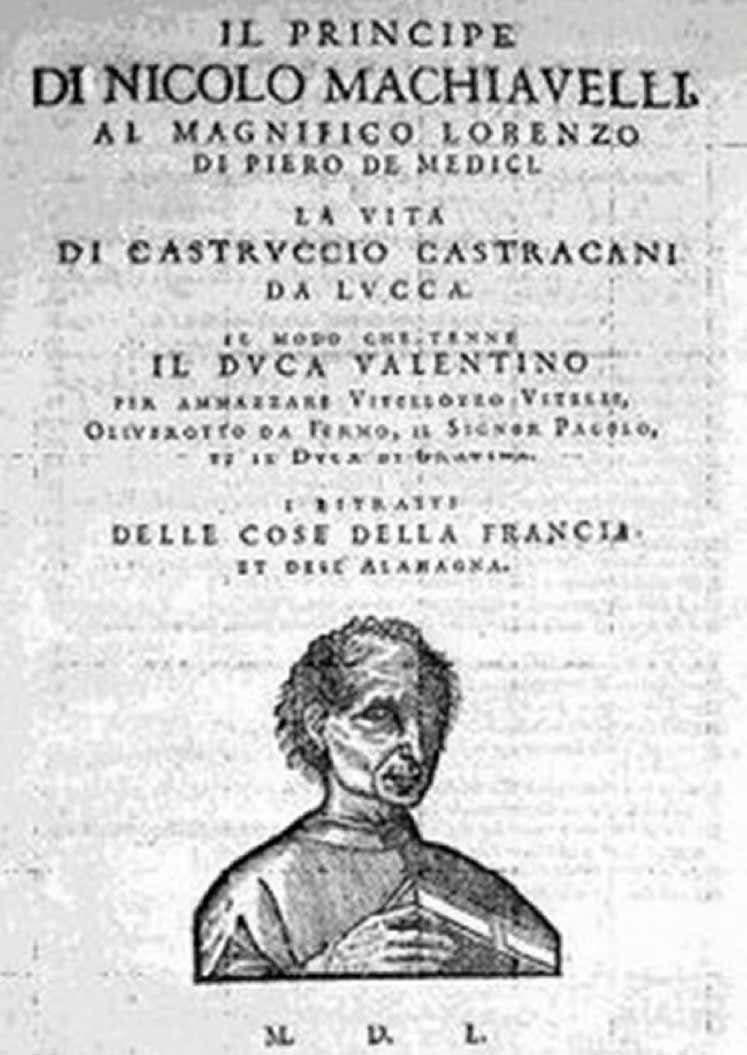 machiavellian management ethics 500 years of the prince cover page of 1550 edition of machiavelli s il principe