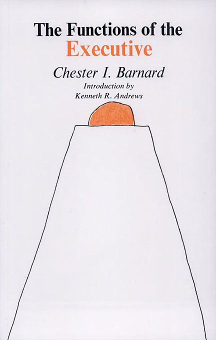 """Cover of 30th Anniversary Edition (1968) of the Book """"The Functions of the Executive"""" by Chester Barnard"""