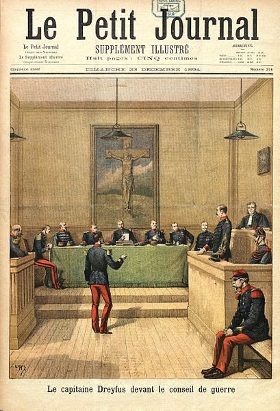 Case Dreyfus. Picture by Henri Meyer on the cover of Petit Journal of 23 december 1895.