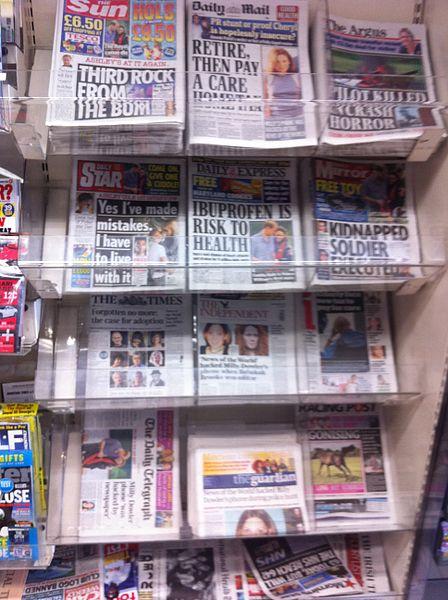 British tabloids, by Bobbie Johnson