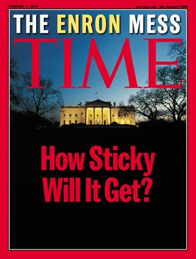 Cover of Time Magazine after Enron Bankruptcy