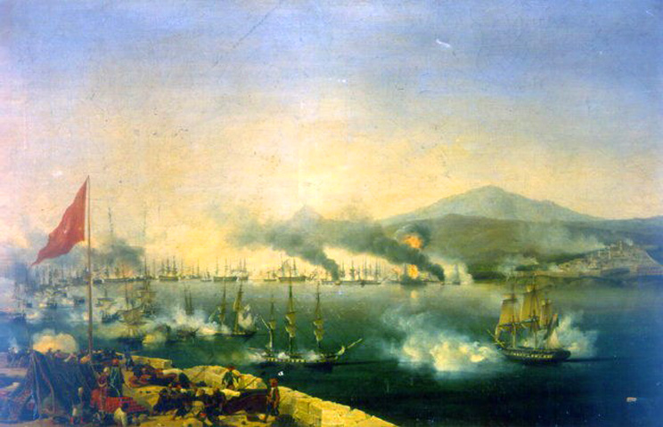 The Naval Battle of Navarino (1827), by Garneray. Greece Independence War