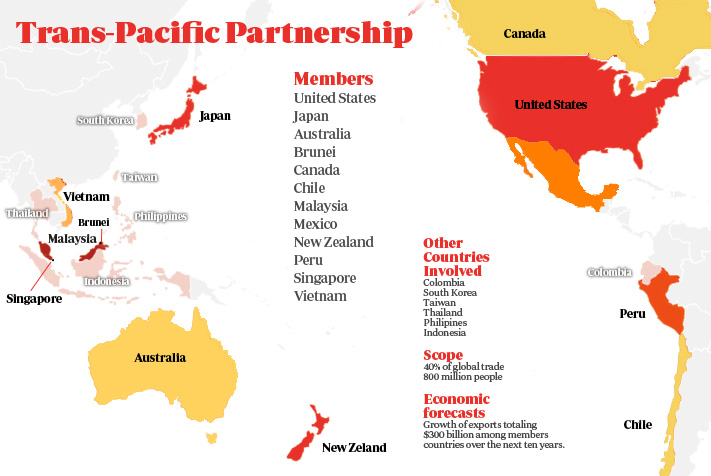 Trans Pacific Partnership US, Japan 2015