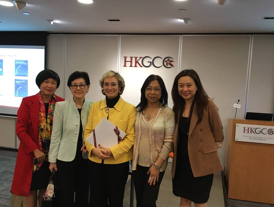At the Hong Kong Chamber of Commerce, with members of the Women Executives Club