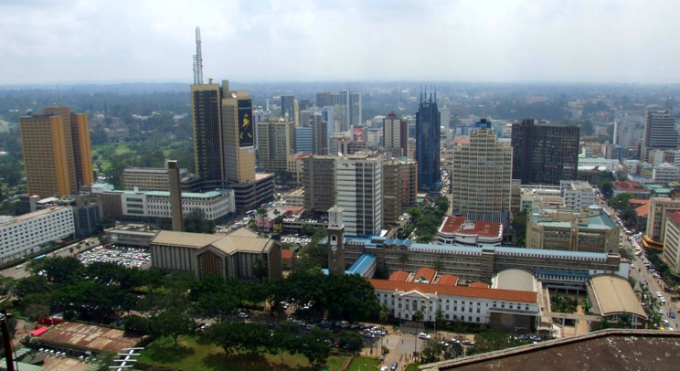 Aerial view of Nairobi from the Kenyatta International Conference Centre. Source: Flickr/Jonathan Stonehouse