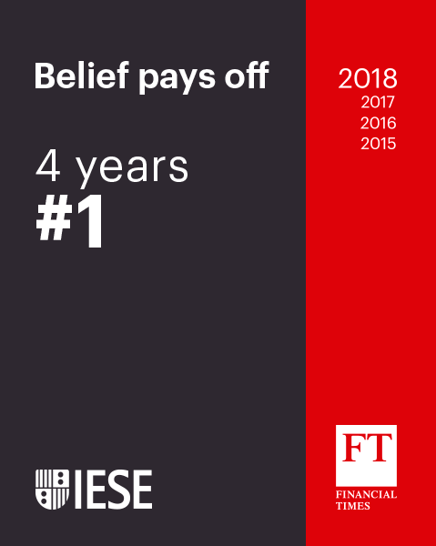 Executive education ranking IESE #1