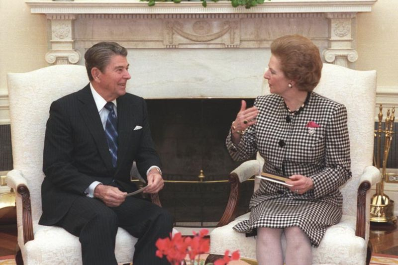 Ronald Reagan et Margaret Thatcher at the White House. Courtesy Ronald Reagan Library