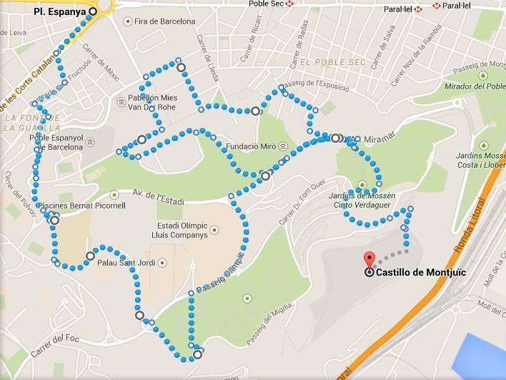 montjuic route
