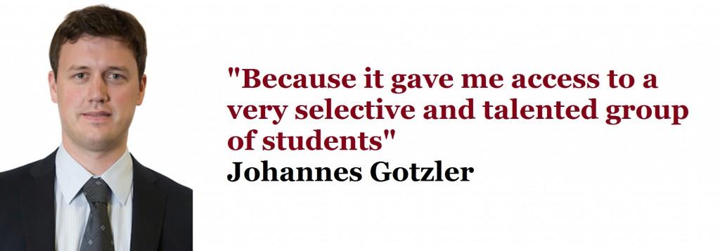 Johannes Gotzler YTP MBA