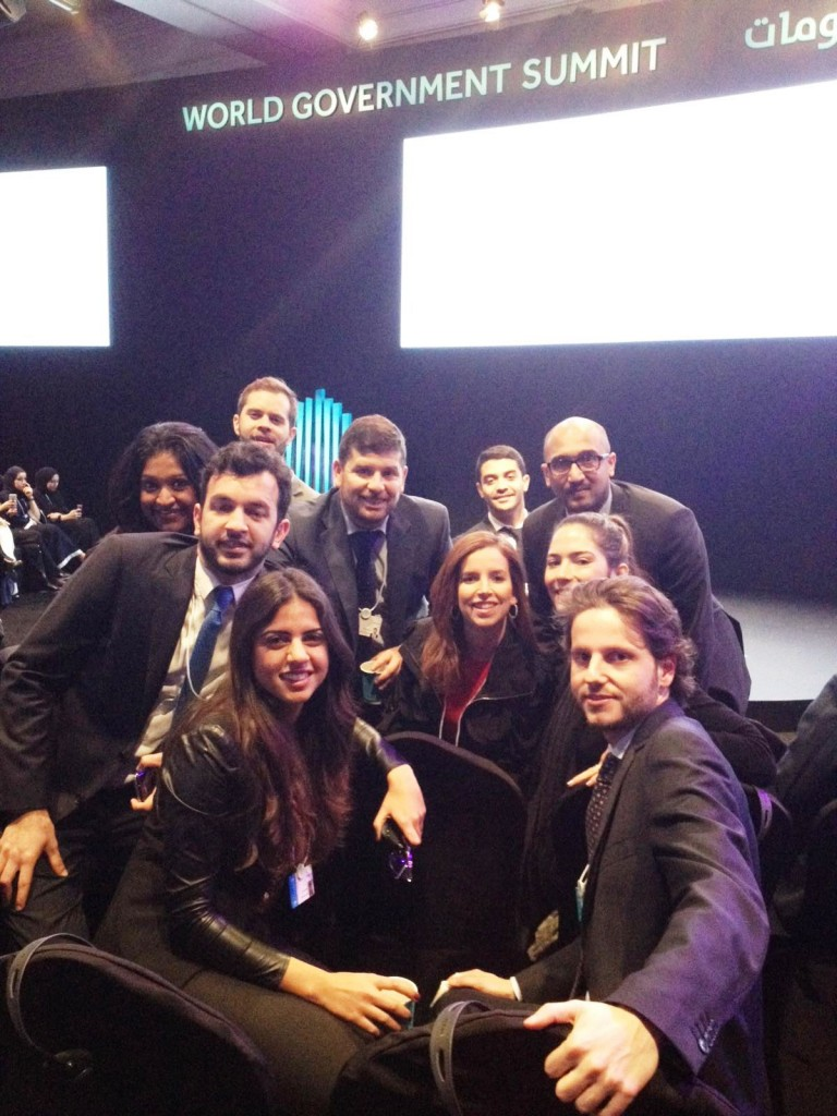 Some of the IESE MBA students who attended the Summit