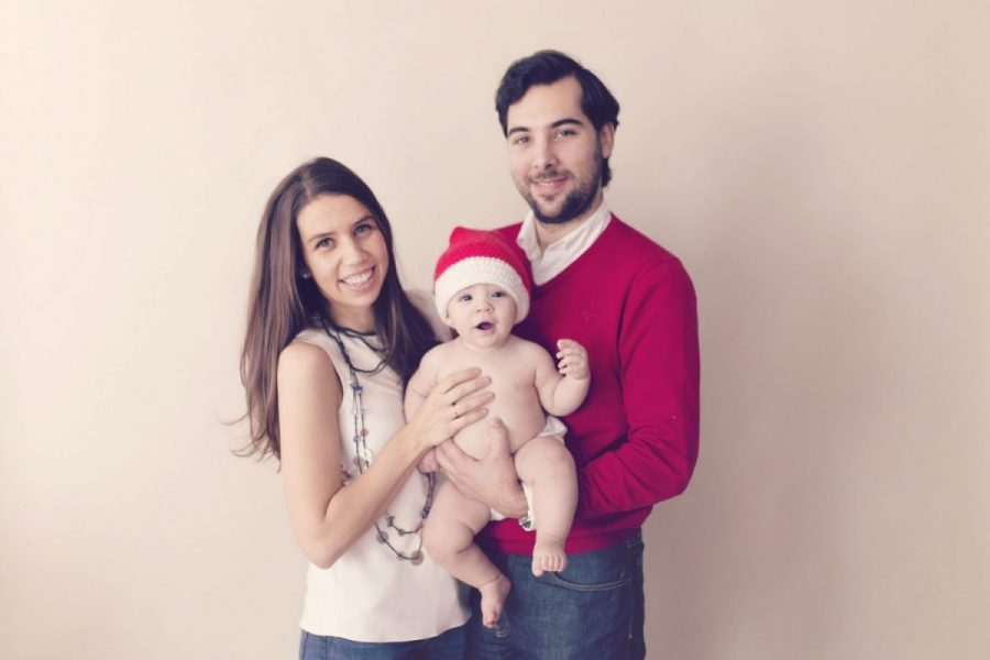 Blanca Gómez-Zamalloa Atiénzar with her family during Christmas