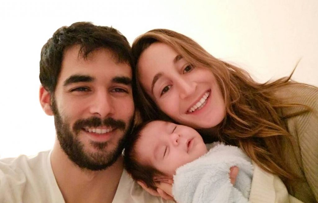 Rocio Pardo Martin, her husband and her baby, Claudio