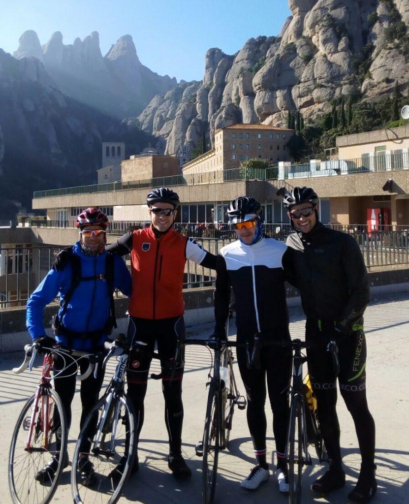 Bike ride up to Montserrat