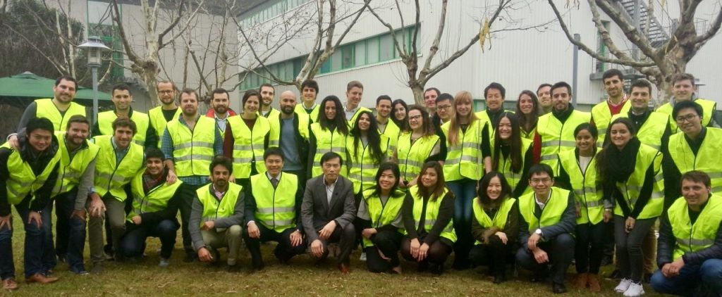 Students visiting a Chinese company to understand their operations