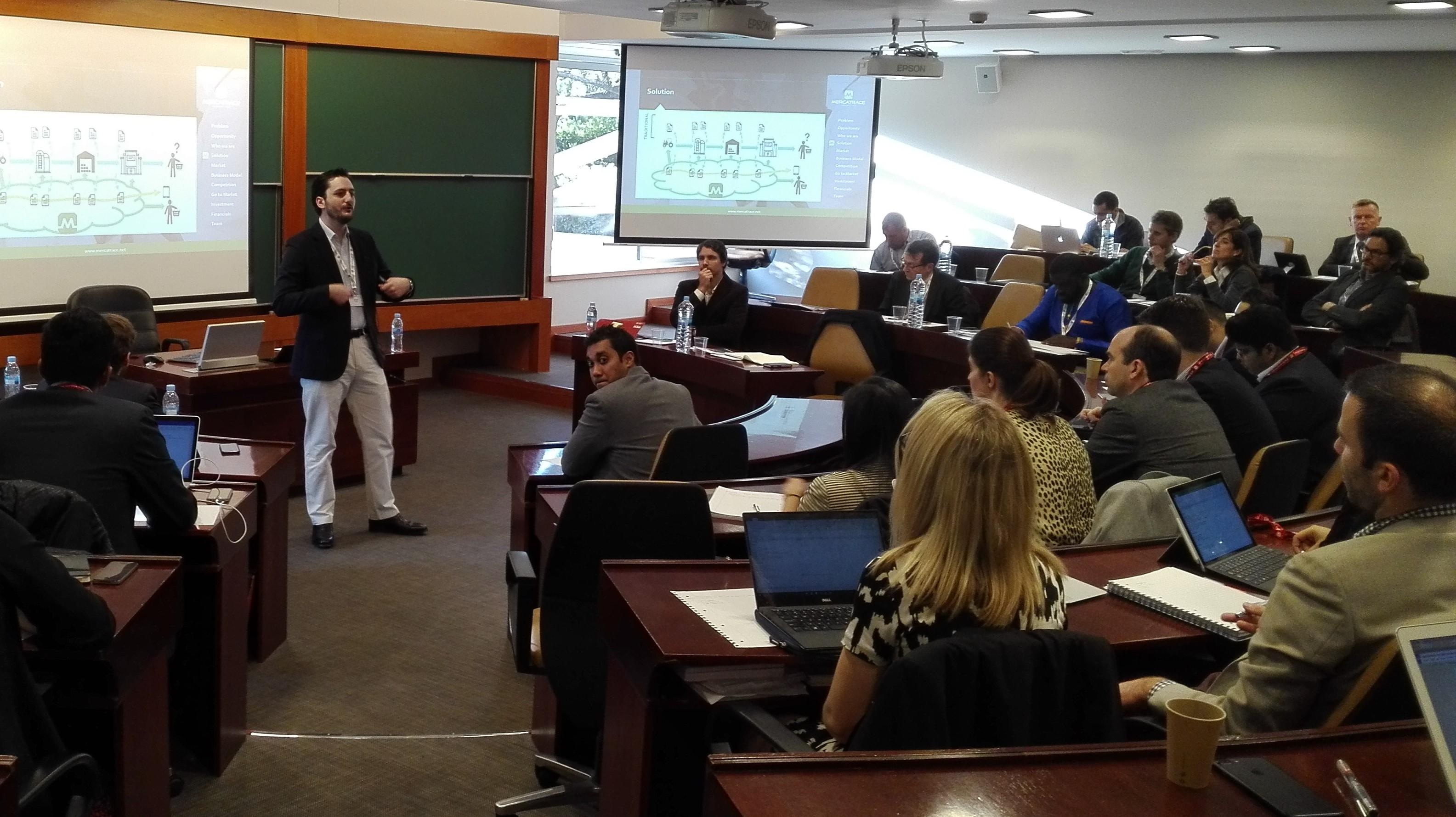 Entrepreneur's presentation