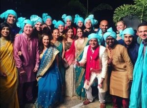 The IESE crew at a classmate's wedding celebration in India