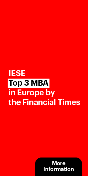 IESE Top 3 MBA in Europe by the Financial Times