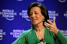 Ana Patricia Botín en Davos